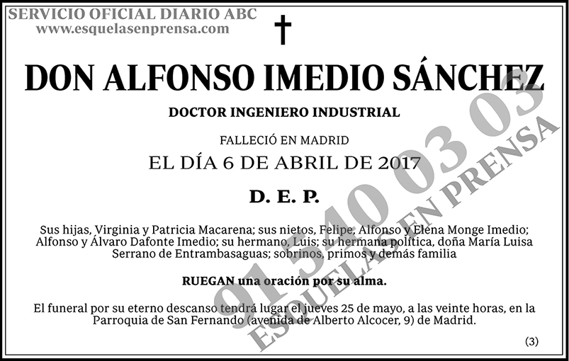 Alfonso Imedio Sánchez